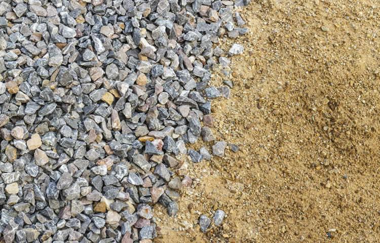 Crushed Rock Types : Building material grow green organics